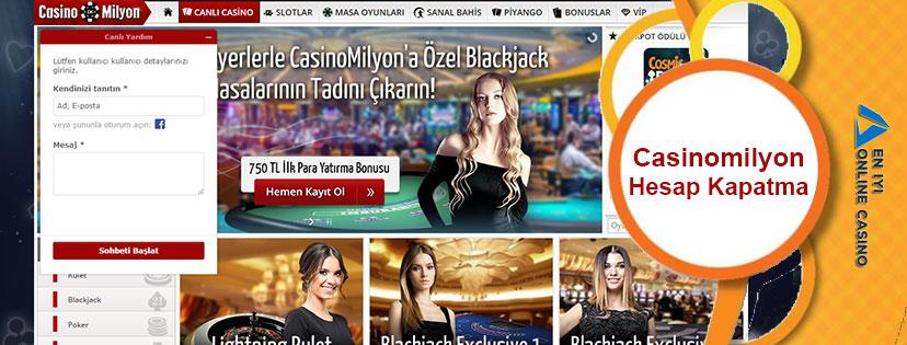 Casinomilyon Hesap Kapatma