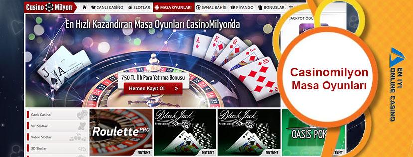 Casinomilyon Masa Oyunları