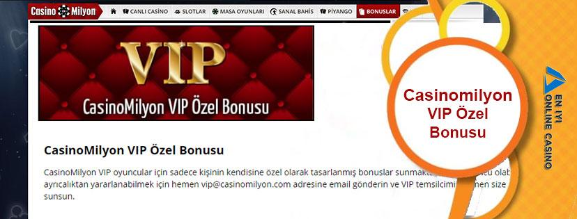 Casinomilyon VIP Özel Bonusu